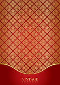 Red & gold luxury background — Stock Vector