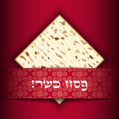 Passover card with matza — 图库矢量图片