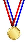 Vector illustration of gold medal — Stock Vector