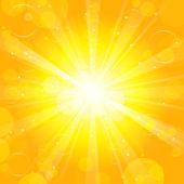 Sun - Vector background — Stock Vector