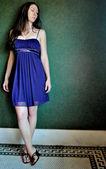 Blue Dress 2 — Stock Photo