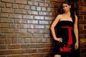 Black Dress — Stock Photo