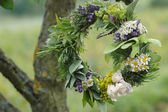 Herb Leaf and Flower Garland — Stock Photo