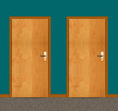 Apartment wooden door — Stock Photo