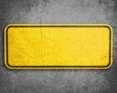 Gelbes schild — Stockfoto
