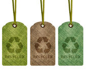 Eco riciclo tag — Foto Stock