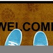 Welcome cleaning foot carpet — Stock Photo