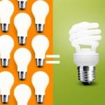 Saving Light bulb — Stock Photo #7993587