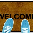 Welcome cleaning foot carpet — Stock Photo #7994480