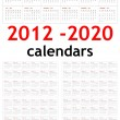 New year 2012 - 2020 Calendars — Stock Photo #8106703