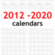 New year 2012 - 2020 Calendars - Stock Photo