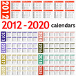 Stock Photo: New year 2012 - 2020 Calendars