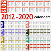New year 2012 - 2020 Calendars — Stok fotoğraf