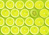 シームレスなレモン スライスの背景 — ストック写真