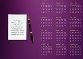 новый год 2012 календарь — Стоковое фото