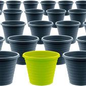 Plastic garden pot — Stock Photo