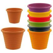 Plastic garden pot — 图库照片