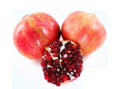 Pomegranate isolated on white background — Stock Photo