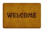 Welkom schoonmaak voet tapijt — Stockfoto