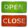 Stock Photo: Open and close signs