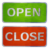 Open and close signs — Stock Photo