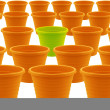 Plastic garden pot - Stock Photo