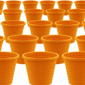 Plastic garden pot — Stock Photo