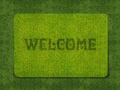 Welcome doormat — Stockfoto