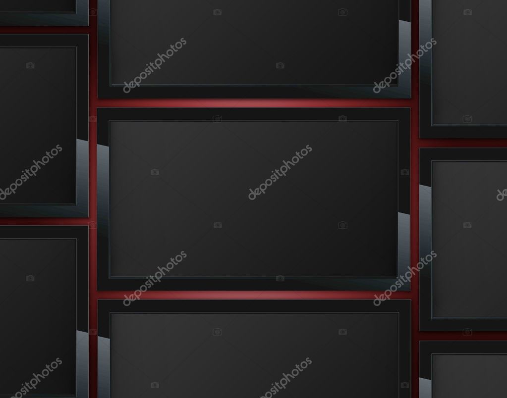 LCD wall TV, Advertise TV Panel . — Stock Photo #9959618