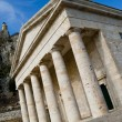 Greek temple in Kerkyra — Stock Photo