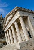 řecký chrám v kerkyra — Stock fotografie