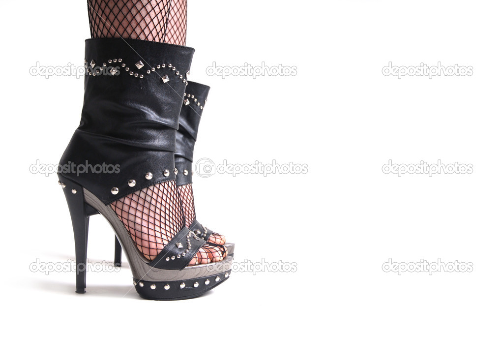 Dark elegant foot — Stock Photo #7978461