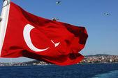 Turecko vlajka — Stock fotografie