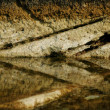 Stone texture with reflection — Stock Photo