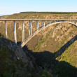 Bridge crossing a canyon - Stock Photo
