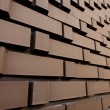 Brick wall in perspective — Stock Photo