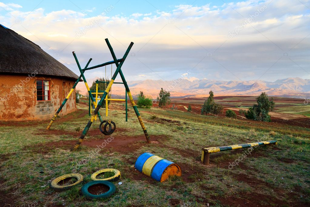 Playground  at a school in a village in Africa  Stock Photo #9468981