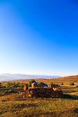Horská obec v krásném ranním světle — Stock fotografie