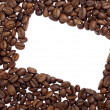 Stock Photo: Coffee beans border