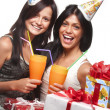 Beautiful girls celebrate birthday — Stock Photo #9442443