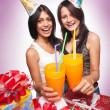 Beautiful girls celebrate birthday — Stock Photo #9442449