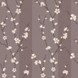 Vector seamless pattern with sakura branches — Stock Photo #10094855