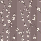 Vector seamless pattern with sakura branches — Stock Photo