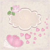 Vector valentine`s day frame — Vector de stock