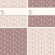 Royalty-Free Stock Vector Image: Valentine seamless patterns with hearts and roses