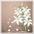 Beautiful spring wallpaper with lily flowers - Stock Vector