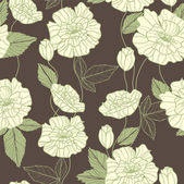 Seamless vector pattern with poppy flowers — 图库矢量图片