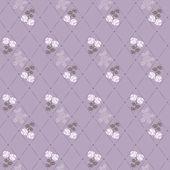 Seamless vector flower pattern — Stock Photo