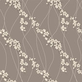 Vector seamless pattern with sakura branch — Stock Photo