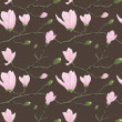 Stock Photo: Seamless pattern with magnolia flowers